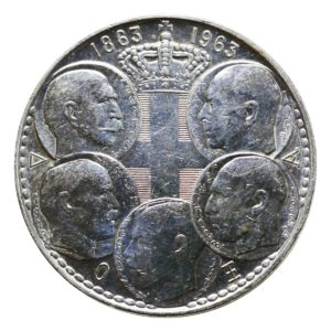 Greece 30 Drachmai 1963 Centennial – Five Greek Kings
