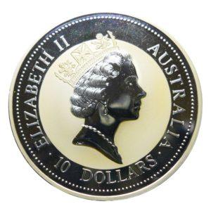Australia 10 Dollars 1997 10 Ounce Kookaburra and Nestling