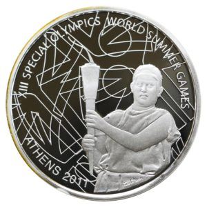 Greece 10 Euro Special Olympics Torch-bearer 2011 Proof