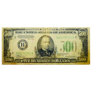 1934 500 Dollars USA Federal Reserve Banknote