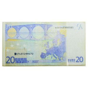 2002 20 Euro Banknote Mismatched Serial Numbers